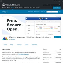 Matomo Analytics – Ethical Stats. Powerful Insights. – WordPress plugin