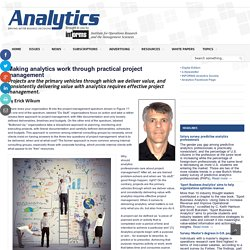 Making analytics work through practical project management