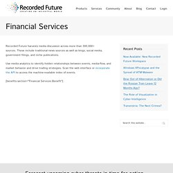 News Analytics: Analytic Tools for Quantitative Finance, Business & More - Recorded Future