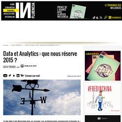 Data et Analytics : que nous réserve 2015 ? - Influencia