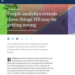 People analytics reveals three things HR may be getting wrong