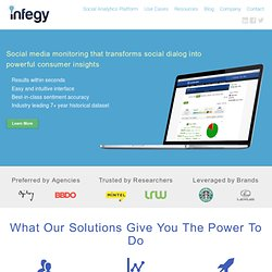 Infegy - Enterprise Social Media Monitoring, Intelligence and An