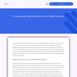 AI Driven Video Analytics Software for the Retail Industry