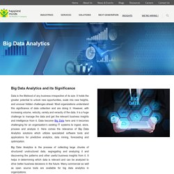 Big Data Analytics Tools,Big data Analytics Solutions - Happiest Minds