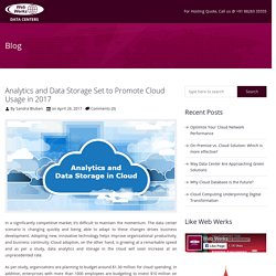 Analytics and Data Storage Set to Promote Cloud Usage in 2017 - Web Werks
