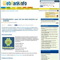 Google Analytics sur un téléphone Androïd