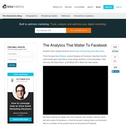 The Analytics That Matter To Facebook