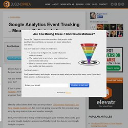Google Analytics Event Tracking - Measure Calls to Action