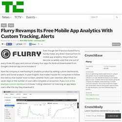 Flurry Revamps Its Free Mobile App Analytics With Custom Tracking, Alerts