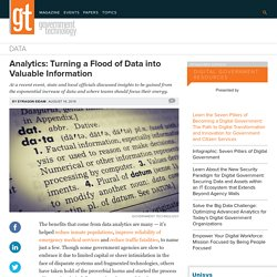 Analytics: Turning a Flood of Data into Valuable Information