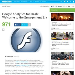 Google Analytics for Flash: Welcome to the Engagement Era
