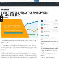 5 Best Google Analytics WordPress Plugins You should Check Out - WP Multiverse