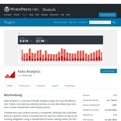 Koko Analytics – WordPress-Plugin