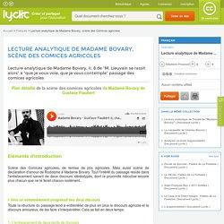 Lecture analytique de Madame Bovary, scène des Comices agricoles