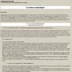 LECTURE ANALYTIQUE DE CHARLES BAUDELAIRE - A UNE PASSANTE (LES FLEURS DU MAL, XCIII)