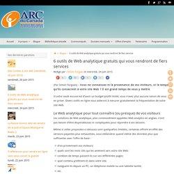 6 outils de Web analytique gratuits qui vous rendront de fiers services