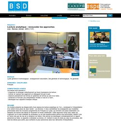 BSD - Lecture analytique : renouveler les approches