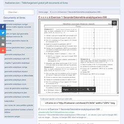 É n o n c é Exercice 1 Seconde/Géométrie-analytique/exo-006 ... - Téléchargement gratuit, lire des documents pdf et des fichiers