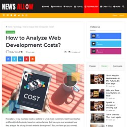 How to Analyze Web Development Costs?