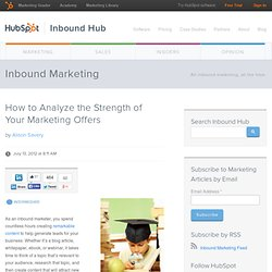 How to Analyze the Strength of Your Marketing Offers