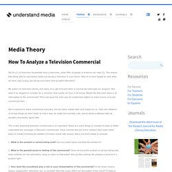 How To Analyze a Television Commercial