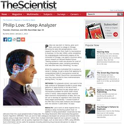 Philip Low: Sleep Analyzer