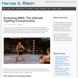 Analyzing MMA: The Ultimate Fighting Championship