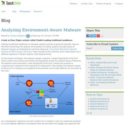 Analyzing Environment-Aware Malware