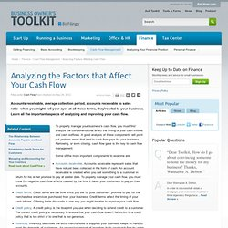 Analyzing the Factors that Affect Your Cash Flow
