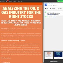 Analyzing The Oil & Gas Industry For The Right Stocks