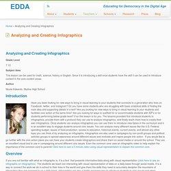 Analyzing and Creating Infographics – EDDA
