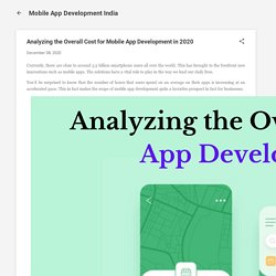 Analyzing the Overall Cost for Mobile App Development in 2020