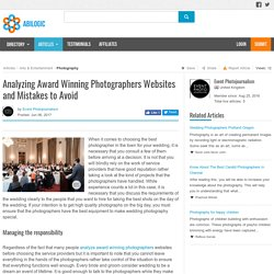 Analyzing Award Winning Photographers Websites and Mistakes to Avoid
