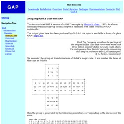 Analyzing Rubik's Cube with GAP
