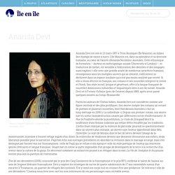 Ananda Devi : Biographie, bibliographie, prix et distinctions littéraires, filmographie et liens vers d'autres sites - Île en Île