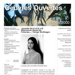 Le vol librement choisi de l'oiseau. Analyse des nouvelles d'Ananda Devi par Serge Meitinger - oeuvresouvertes.net
