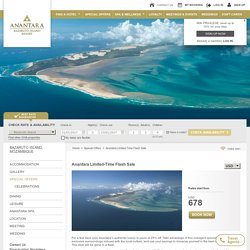 Official Site Anantara Bazaruto Island Resort