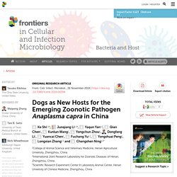 Dogs as New Hosts for the Emerging Zoonotic Pathogen Anaplasma capra in China