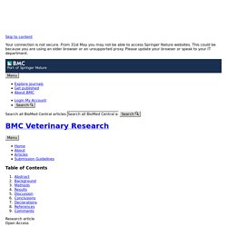 BMC VETERINARY RESEARCH 22/05/18 Diagnostic tools of caprine and ovine anaplasmosis: a direct comparative study