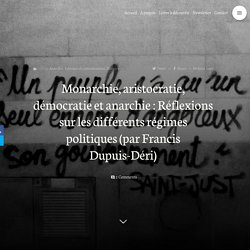 Francis Dupuis-Déri – L'anarchie dans la philosophie politique (2007)