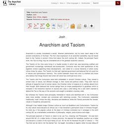 Anarchism and Taoism
