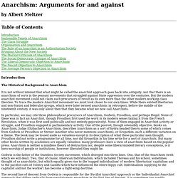 Anarchism: For & Against