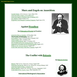 Marx and Engels on Anarchism and the Conflict with Bakunin