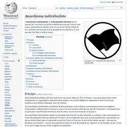 Anarchisme individualiste