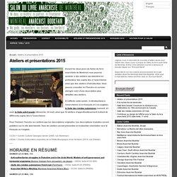 Salon du Livre Anarchiste » Ateliers et présentations 2015