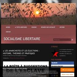 ★ Les anarchistes et les élections : histoire, théories et pratiques - Socialisme libertaire