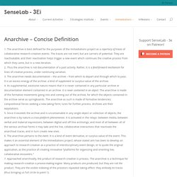 Anarchive – Concise Definition