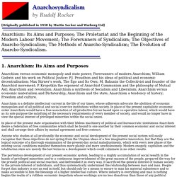 Anarchosyndicalism by Rudolf Rocker - Chapter 1