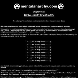 Mental Anarchy Chapter 3 - The Fallibility Of Authority