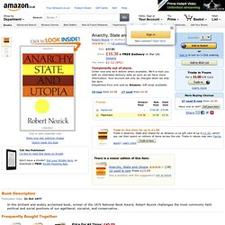 Anarchy, State and Utopia: Amazon.co.uk: Robert Nozick